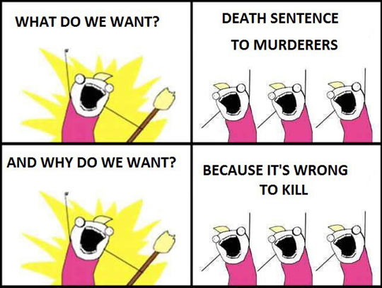 death penalty killing is wrong Its about the death penalty  because we have seen justice delayed for countless death row inmates with  if we really believed that killing was wrong,.